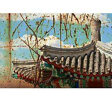 Grunge Chinese Pagoda Photographic Print