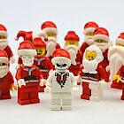 """Santa Showdown """"There Can Be Only One"""" by minifignick"""