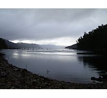 evening approaches and the rain has stopped, near Mackintosh Dam, Tullah Photographic Print