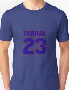 National football player Willie Turral jersey 23 T-Shirt