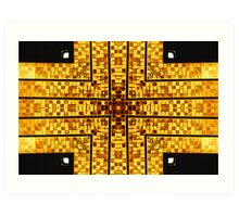 The Golden Cross Art Print