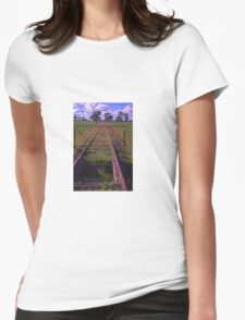 old railway tracks Womens Fitted T-Shirt