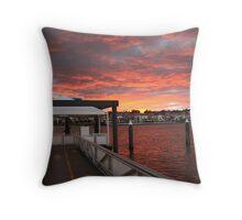 Brisbane River Sunset Throw Pillow