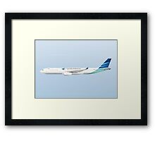 Wings In Uniform - A330 - Garuda Indonesia Framed Print