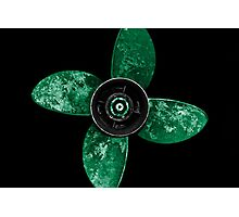 Propeller - Jade Green Photographic Print