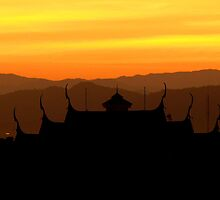 Sunset Changmai by Kiwikiwi