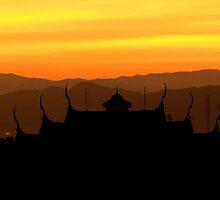 Sunset Changmai by Kiwikiwi