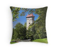 Burg Sponeck Throw Pillow