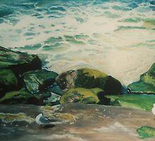 Cronulla Rocks by Kim O'Malley