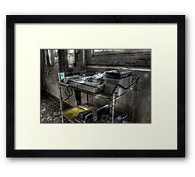 Medecine Trolley Framed Print