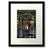 Door to decay Framed Print