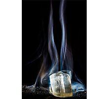 Smoking Ice Photographic Print