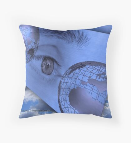 climate change - communication Throw Pillow