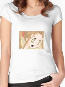 Manga girl 02 Women's Fitted Scoop T-Shirt