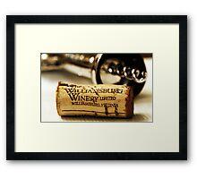 Cork Framed Print