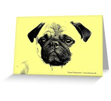 mops puppy yellow - french bulldog, funny, cute, love Greeting Card