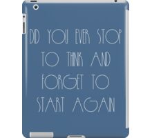 Stop To Think iPad Case/Skin