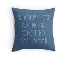 Stop To Think Throw Pillow