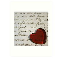 Love letters straight to my heart Art Print