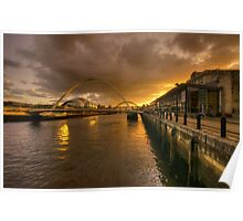 Sunset on the Tyne  Poster