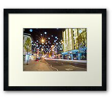 Christmas in Oxford Street Framed Print