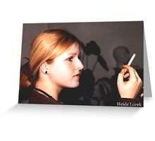 Smoke Gets In Your Eyes Greeting Card