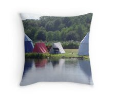 tent reflections Throw Pillow