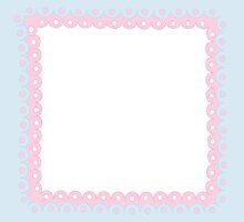 Lolita Pink & Blue Kawaii Border by MLPDarkAngel