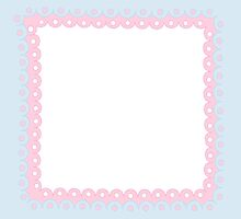 Lolita Pink & Blue Kawaii Border by MLPDarkAngel