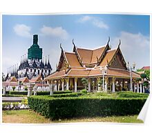 Thailand Temples in Bangkok Poster
