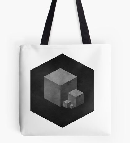 GREY CUBES Tote Bag