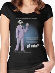Got brains? Women's Fitted Scoop T-Shirt