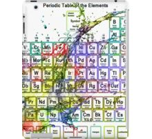 Colorful Periodic Table Of The Elements  with liquid splatters. iPad Case/Skin