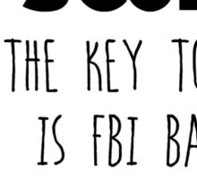 The Key to Love - Mulder & Scully Sticker