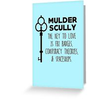 The Key to Love - Mulder & Scully Greeting Card