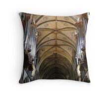 painted ceiling in Worcester Cathedral Throw Pillow