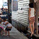Thai children in a slum in Bangkok by Cvail73