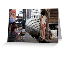 Thai children in a slum in Bangkok Greeting Card