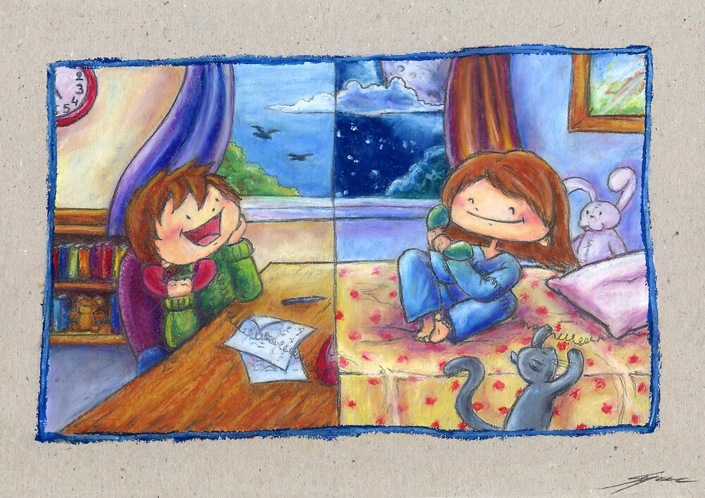 Long Distance Call by Ine Spee