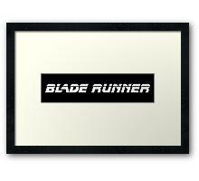 Blade Runner (White) Framed Print