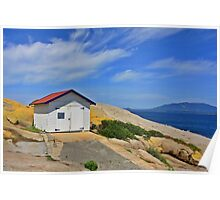Montague Island Boat House Poster