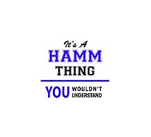 It's a HAMM thing, you wouldn't understand !! by thenamer