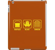Knapsack, Helmet, Dungeon iPad Case/Skin
