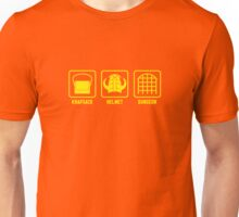 Knapsack, Helmet, Dungeon Unisex T-Shirt