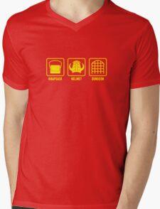 Knapsack, Helmet, Dungeon Mens V-Neck T-Shirt