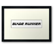 Blade Runner (Black) Framed Print