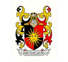 Michaelson Coat of Arms Art Print
