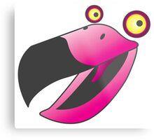 Cute pink beaker bird Metal Print