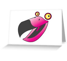 Cute pink beaker bird Greeting Card