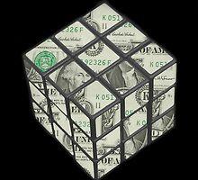 rubix cube dollar by JoshNorthrup